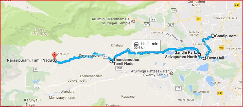 Bus Route – REC Coimbatore